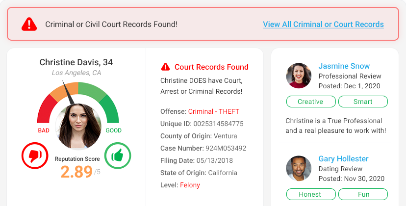 Background Report: Search, Check & Edit Public Background